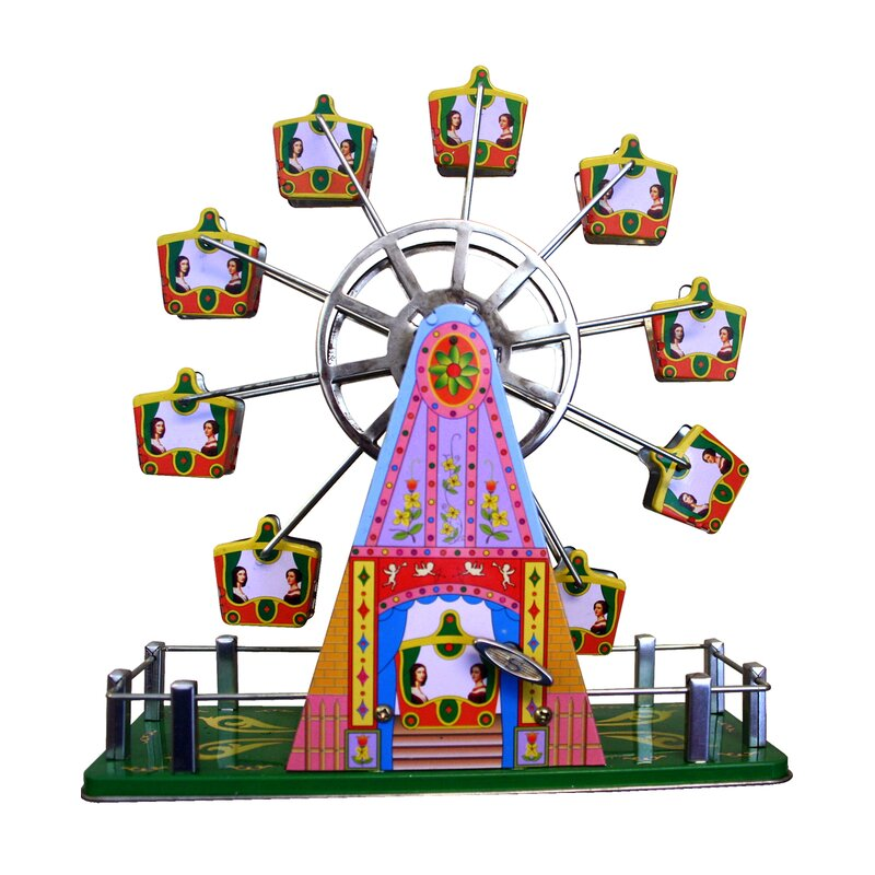 Ebern Designs Lulette Decorative Tin Toy Musical Ferris Wheel Reviews Wayfair