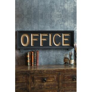 Wooden Office Sign Wall Décor