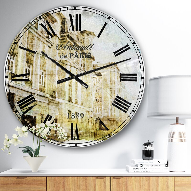 East Urban Home Farmhouse 23 Wall Clock Wayfair