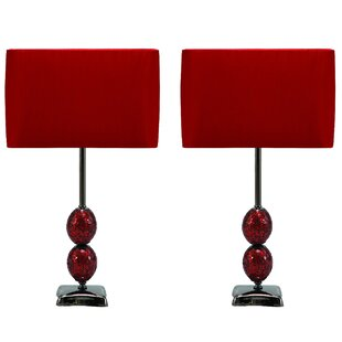 Sheffield Mosaic Cracked 25 Table Lamp (Set of 2)