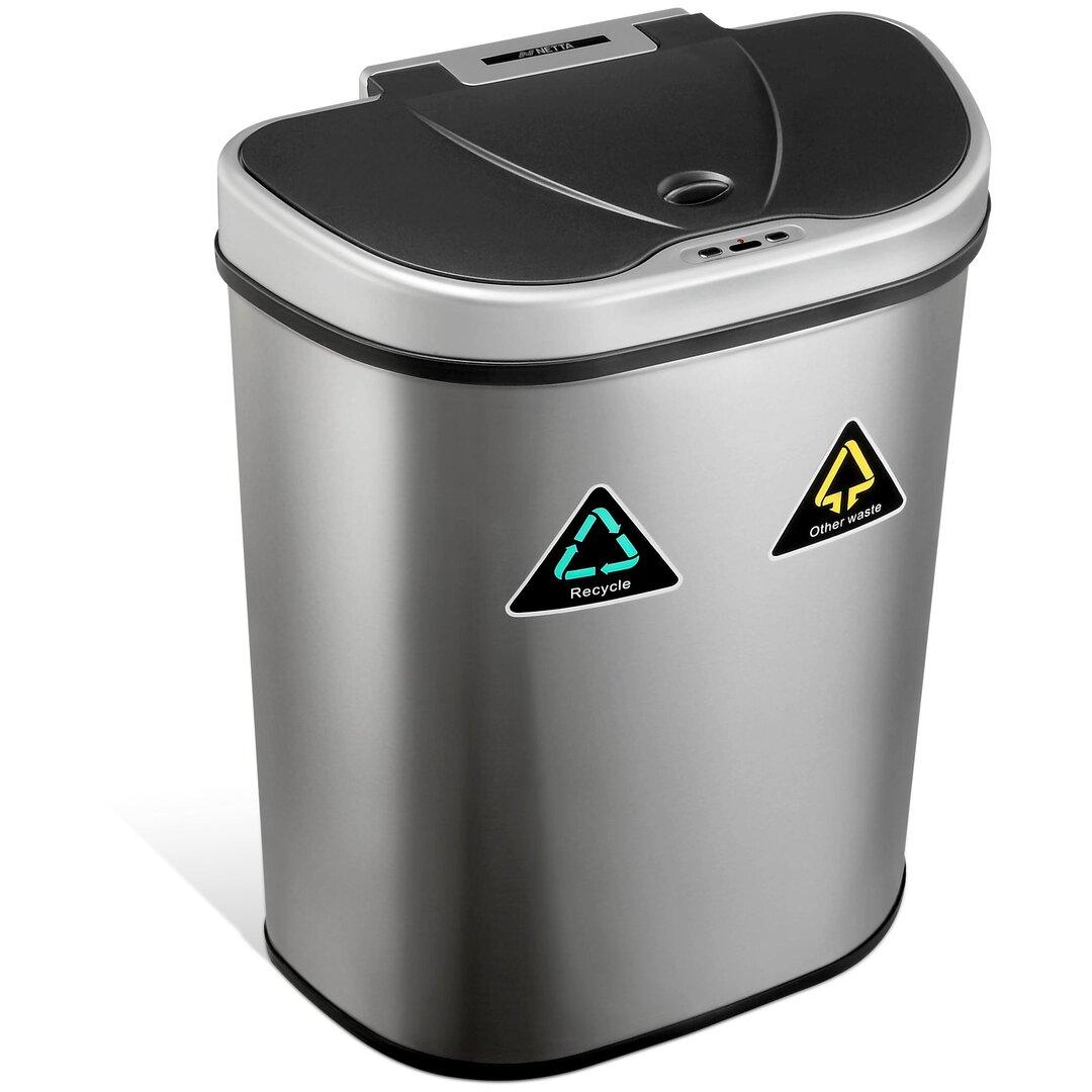 NETTA 70L Kitchen Recycling Sensor Bin, Large Touch Free Was