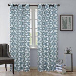 Magnus Geometric Grommet Curtain Panels (Set of 2)