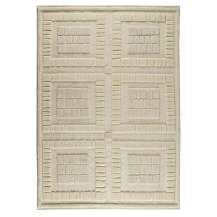 Price Check Bergamo Hand-Knotted White Area Rug ByM.A. Trading
