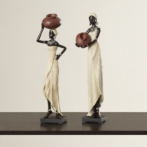 2 Piece African Figurine Set (Set of 2)