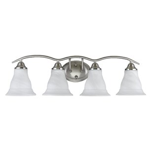 Compare prices Huff 4-Light Vanity Light By Winston Porter