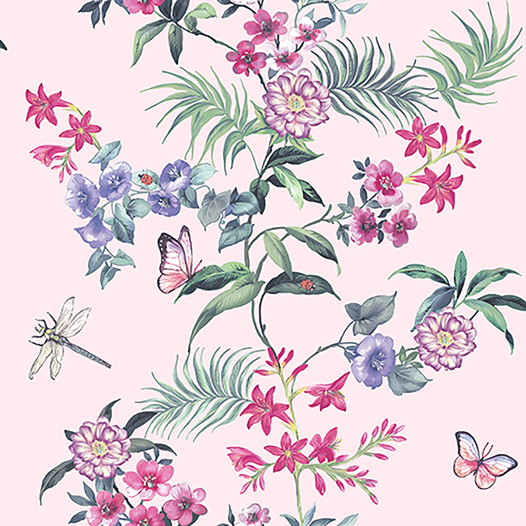 Alvina Floral 33 L X 20 5 W Peel And Stick Wallpaper Roll