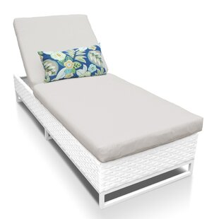 Miami Reclining Chaise Lounge With Cushion by TK Classics No Copoun