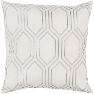 Lambda Down Fill Linen Throw Pillow