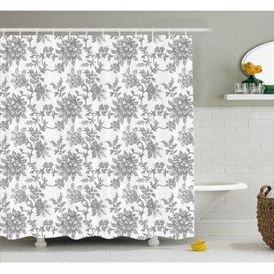 Izora Ethnic Asian Petals Shower Curtain