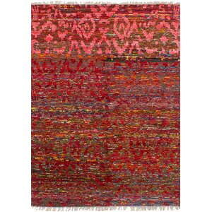 One-of-a-Kind Dennet Hand-Knotted Silk Red Area Rug