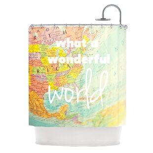 What A Wonderful World Single Shower Curtain