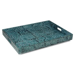 Botanical Leather Accent Tray