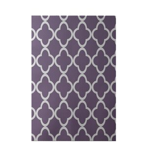 Marrakech Express Geometric Print Violet Indoor/Outdoor Area Rug By e by design