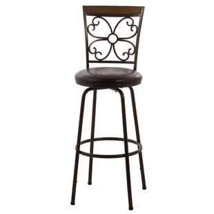 Garrison Adjustable Height Swivel Bar Stool