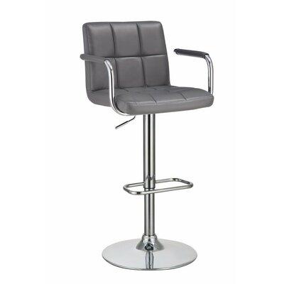 Remarkable Wootton Grid Adjustable Height Swivel Bar Stool Orren Ellis Theyellowbook Wood Chair Design Ideas Theyellowbookinfo