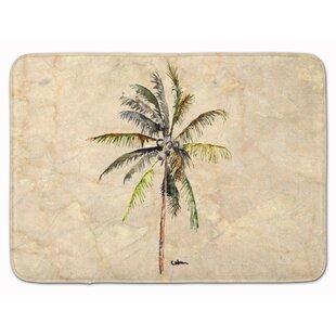 Bellamira Palm Tree Memory Foam Bath Rug by Bayou Breeze