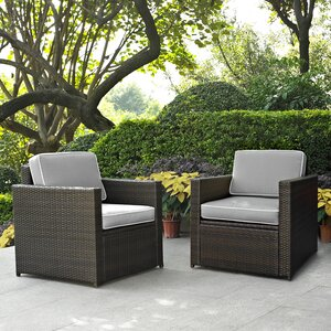 Belton Patio Dining Chair with Cushion (Set of 2)