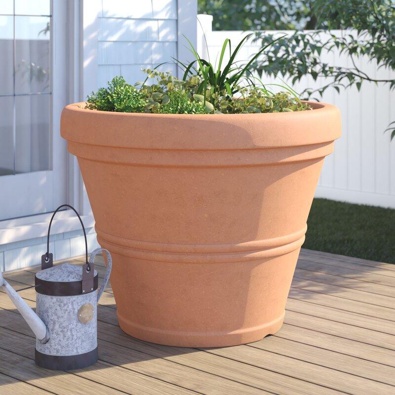 Charlton Home Lanesborough Resin Pot Planter Reviews Wayfair
