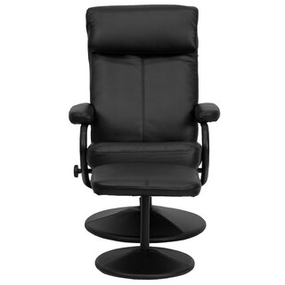 Weinstein Manual Swivel Recliner with Ottoman by Ebern Designs SKU:CB310305 Buy