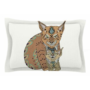 Pom Graphic Design 'Mama and Baby Lynx' Animals Vector Sham