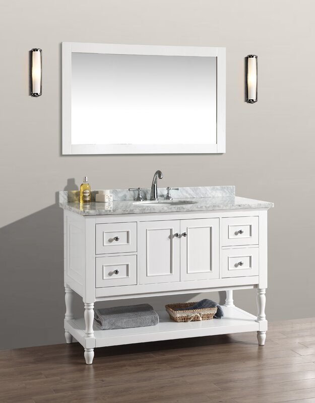 Amie 48  Single Bathroom Vanity Set with Mirror Darby Home Co