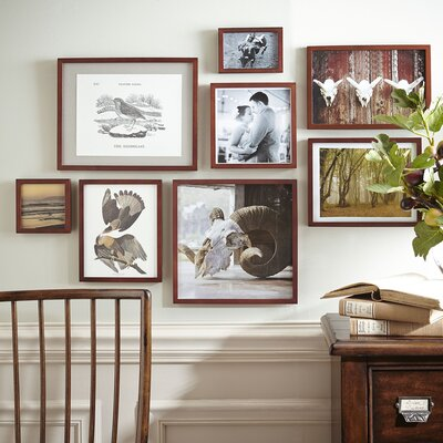 Winston Porter Lecenta Wood Gallery Picture Frame Finish: Walnut, Size: 2 H x 3 W