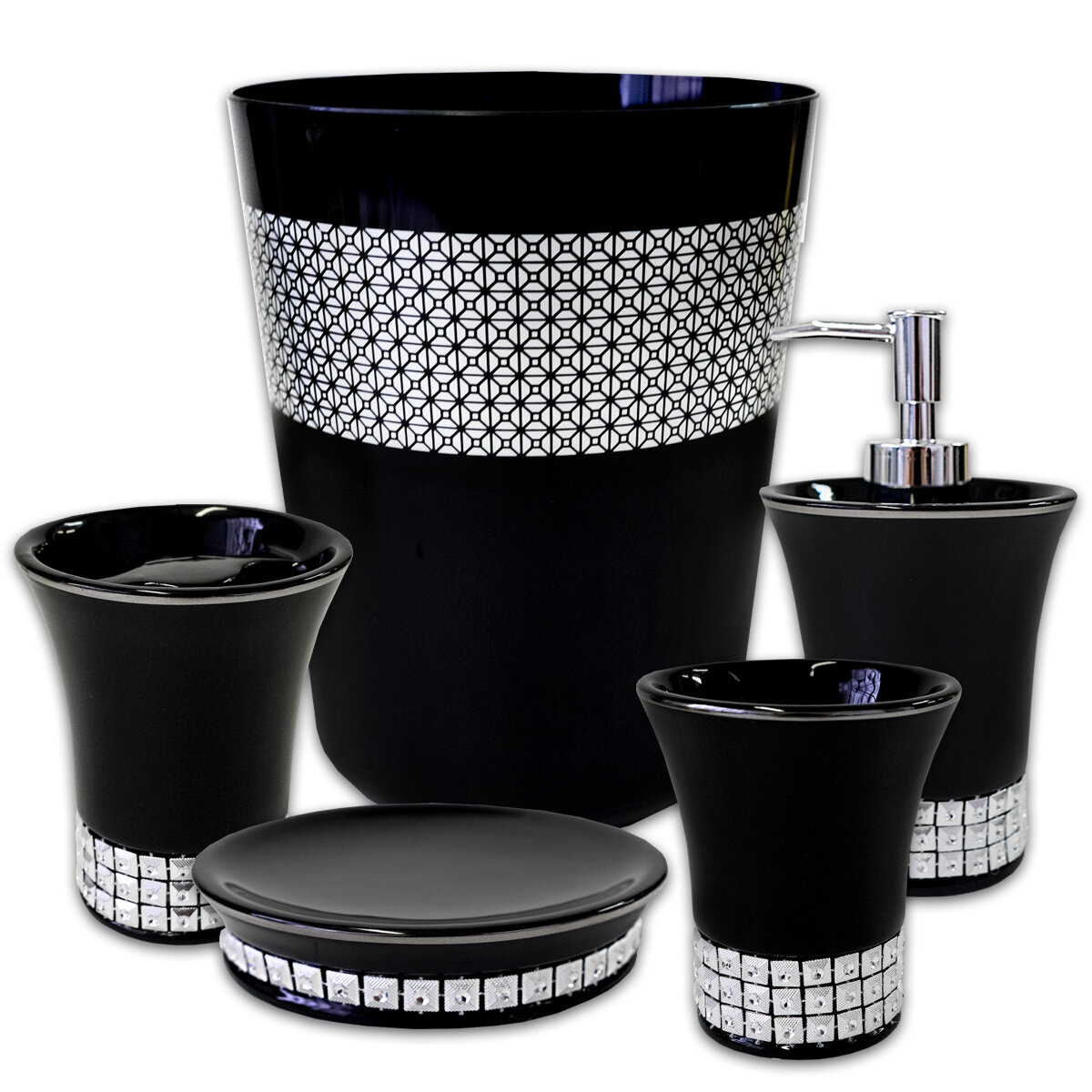 Mercer41 Anton Resin 5 Piece Bathroom Accessory Set Wayfair