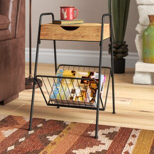 Best Reviews Droz End Table with Storage By Loon Peak