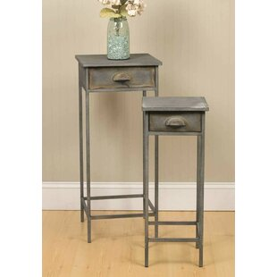 2 Piece 1 Drawer Nightstand Set