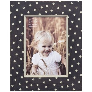 Farm Wood Polka dot Distressed Picture Frame