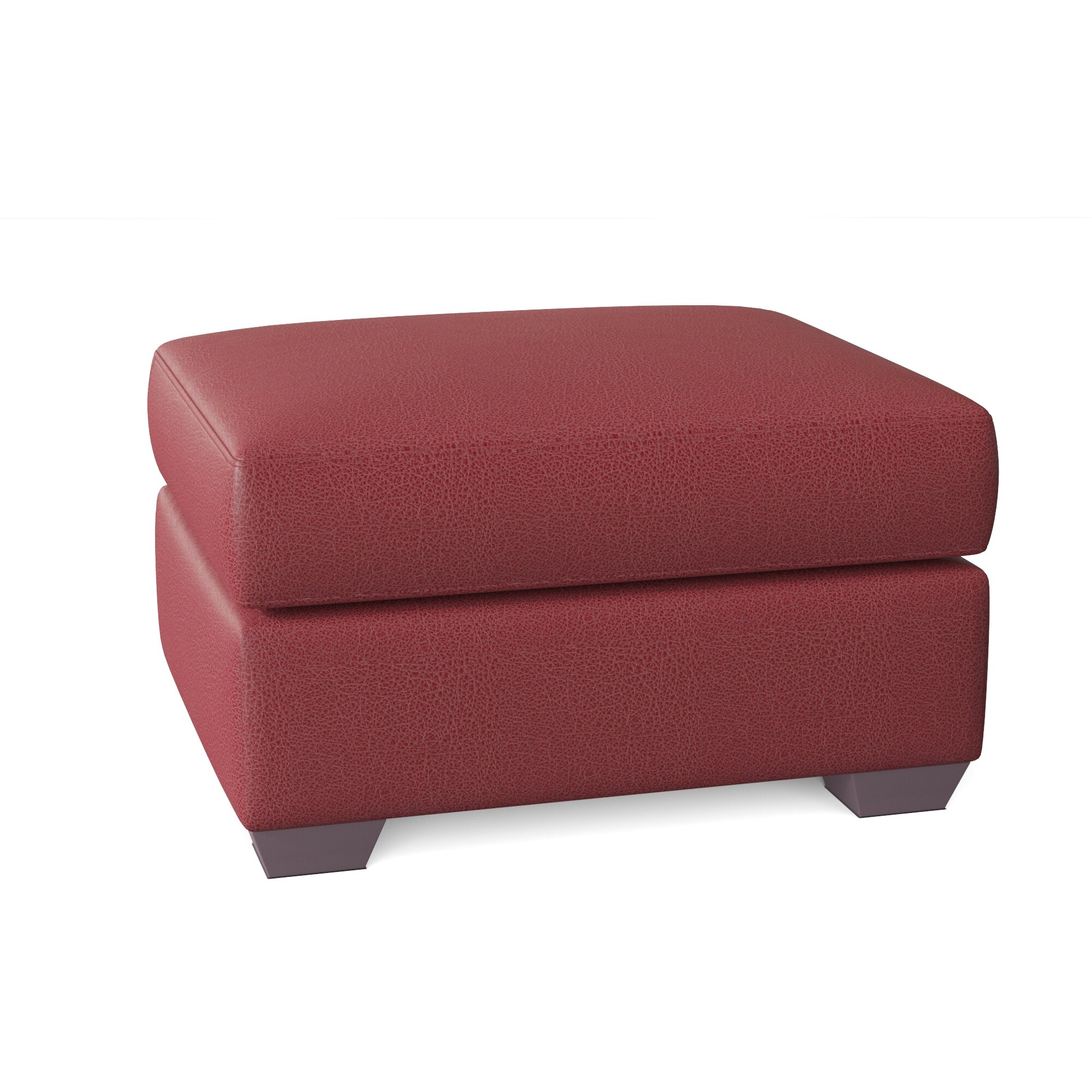 Wayfair Custom Upholstery Rachel 30 Genuine Leather Rectangle Ottoman Wayfair