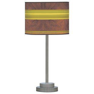 Organic Modern Horizontal Stripes One Stem 24 Table Lamp
