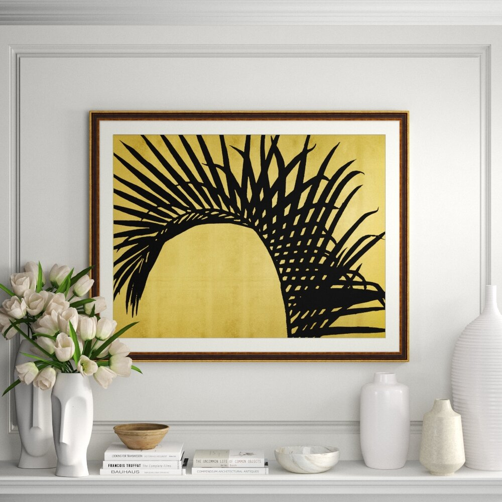 Providence Art Golden Palm 2 Picture Frame Graphic Art Print On Wood Perigold