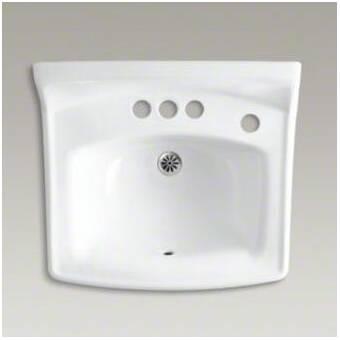 Kohler Greenwich Ceramic 21 Wall Mount Bathroom Sink With Overflow Wayfair