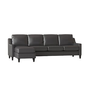 Check Prices Jesper Leather Sectional by Wayfair Custom Upholstery™ Reviews (2019) & Buyer's Guide