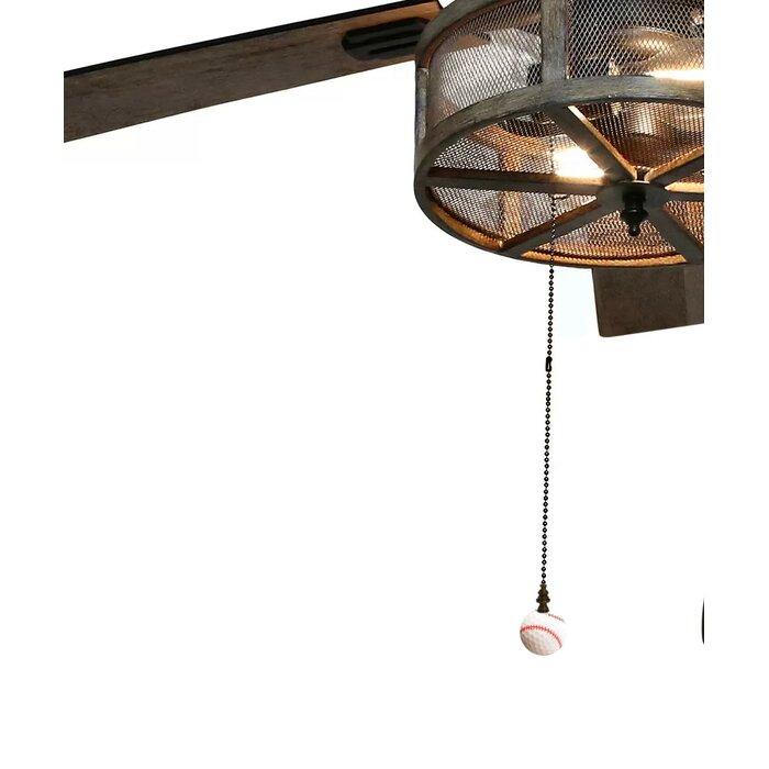 Baseball Ceiling Fan Pull Chain