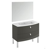 Durham 39 Single Bathroom Vanity Set with Mirror by Orren Ellis