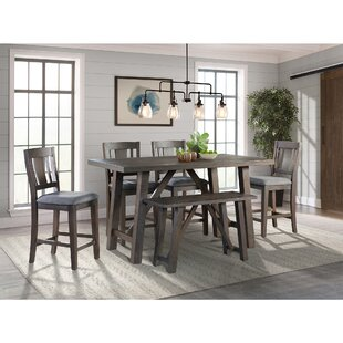Sorrentino 6 Piece Pub Table Set Millwood Pines