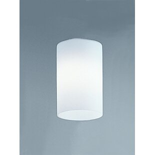 Glass wall light shades wayfair 11cm glass drum wall sconce shade aloadofball Gallery