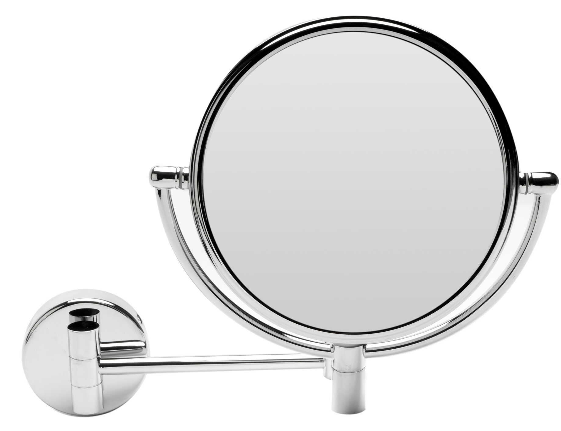 Round Wall Mounted Magnifying Makeup Shaving Mirror