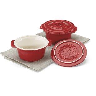 Mini Ceramic Round Dutch Oven (Set of 2)