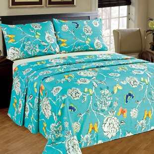 Butterfly Wonderland 100% Cotton Flat Sheet Set