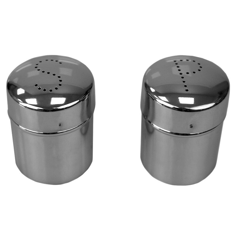 Home Basics Salt And Pepper Shaker Set Wayfair