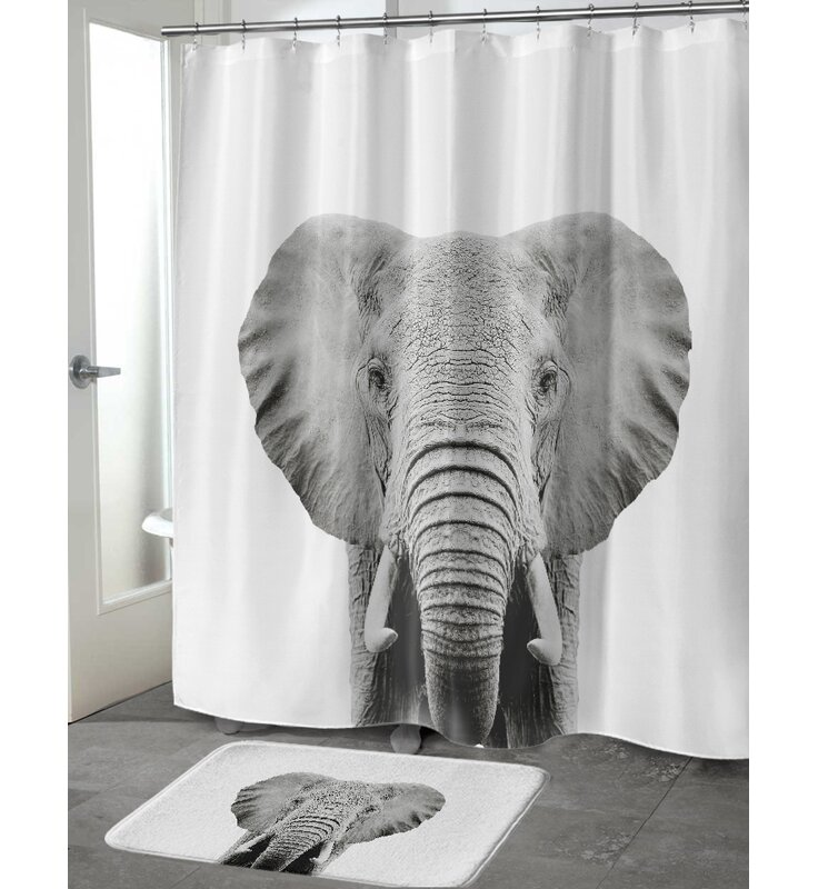 Bloomsbury Market Bemot Elephant Single Shower Curtain