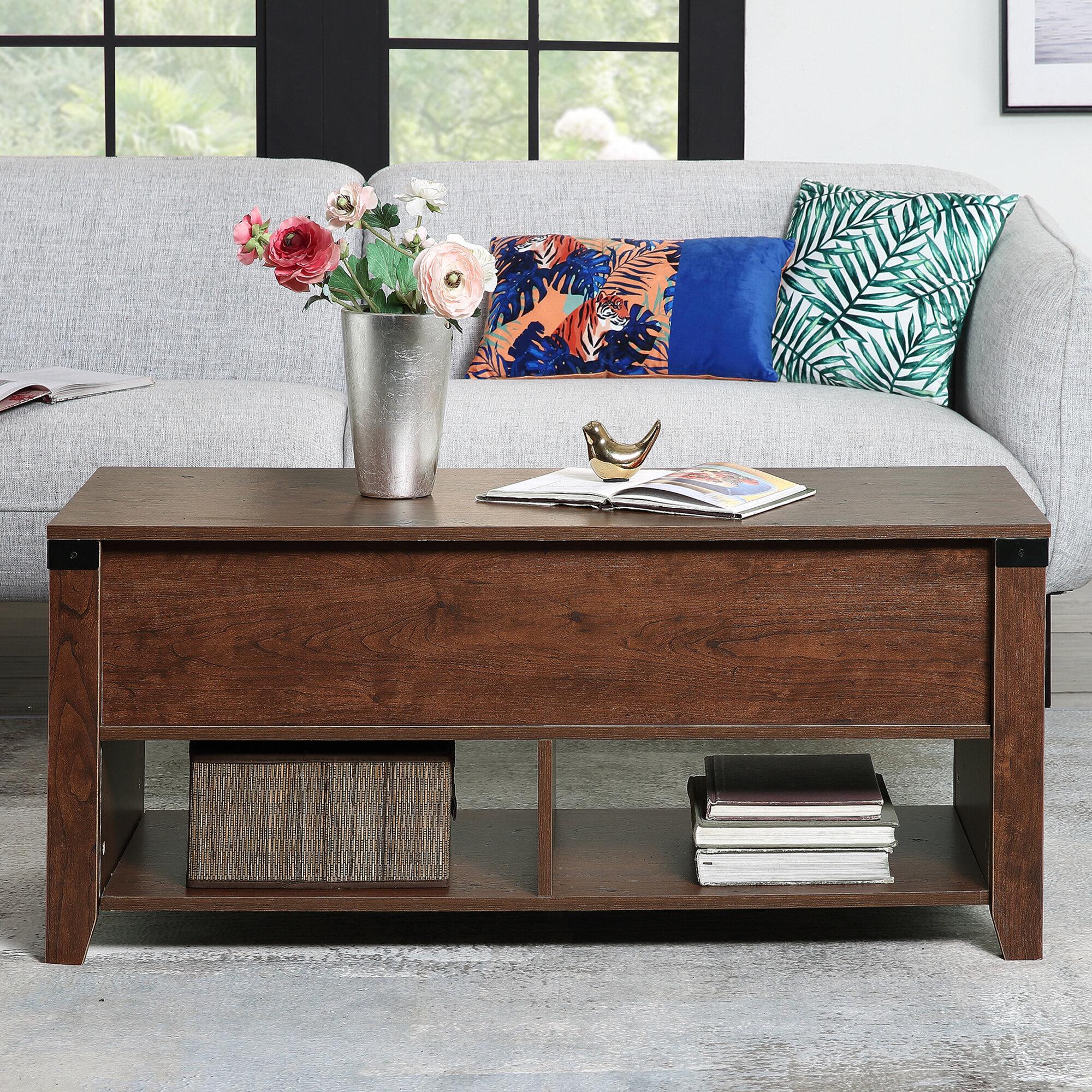 Red Barrel Studio Ilkeston Lift Top Coffee Table With Storage Wayfair