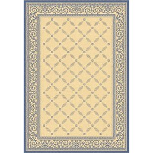 Beasley Garden Gate Ivory/Navy blue Indoor/Outdoor Area Rug