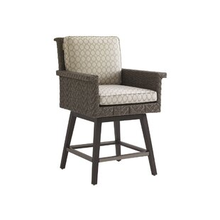 Olive Swivel 26.5 Patio Bar Stool with Cushion by Tommy Bahama Outdoor