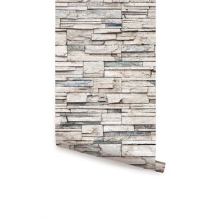 Lepe Faux Stone 4 L X 24 W And Stick Wallpaper Roll
