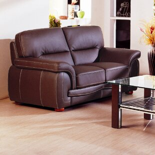 Shop Leather Loveseat by Hokku Designs