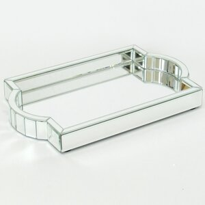 Nicolle Rectangle Beveled Mirror Tray